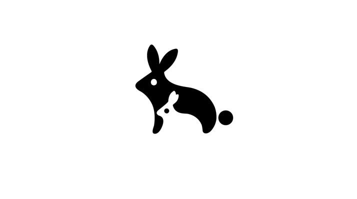 логотип заяц (кролик)