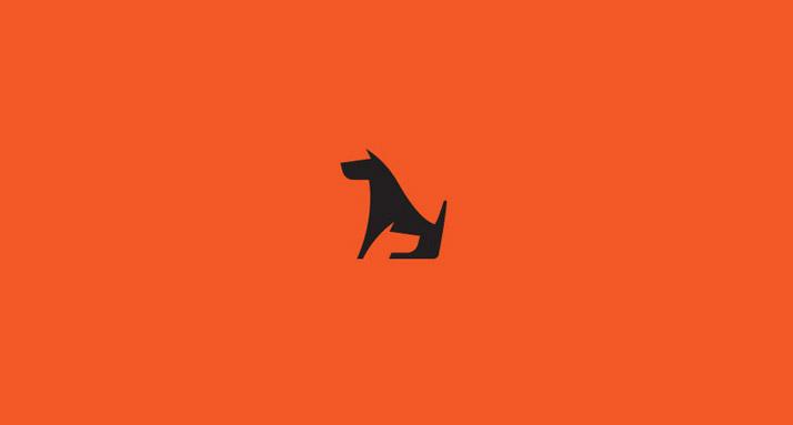 логотип собака